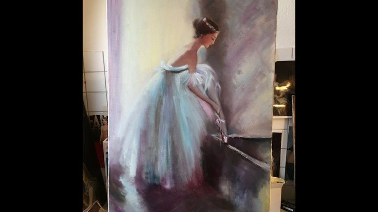 Prima Ballerina painting with oil