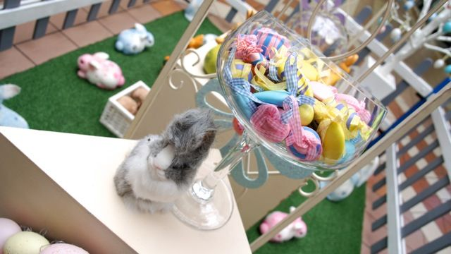 Easter Display in a shopping centre #CeativeCollective #Easter #Bunny #Display