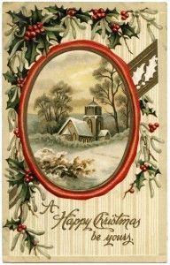 Old Design Shop ~ free printable vintage Christmas postcard