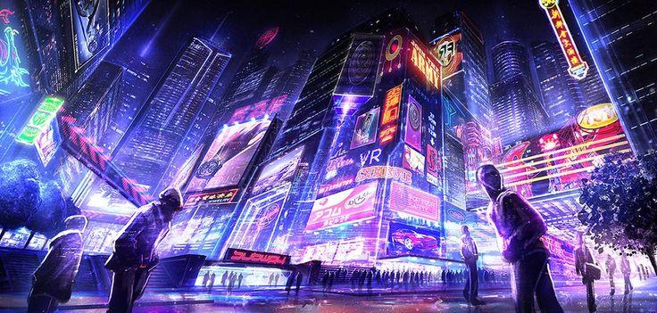 Cyberpunk, Futuristic, Cyber City, Neon, Future City ...