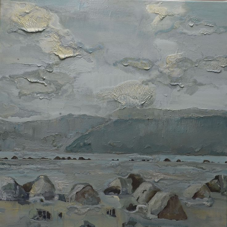 Savary Island, Desolation Sound.  Rocks at Low Tide.  Original oil painting.  30 x 30 inches.  Sold.