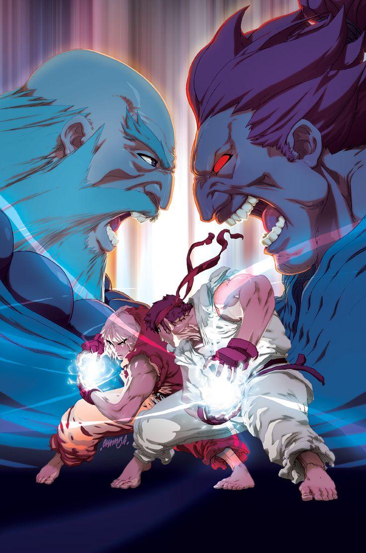 Street Fighter II Turbo - Akuma vs Ryu by Jeffrey Cruz