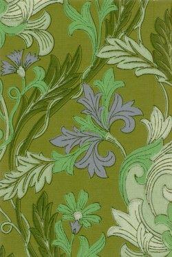William Morrisin tyyliin. Englantilaistyylistä runsautta.