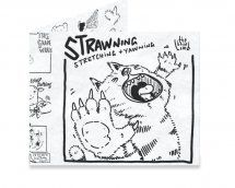 Dynomighty Artist Collective: Strawning by ajbis YAAAAAWWWWWWNNNN … s t r e t c h … now again… together! #thebluelimb #strip #comic #funny #cat #yawn #stretch #blackandwhite #mightywallet #wallet
