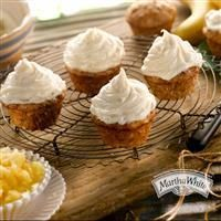 Hummingbird Cupcakes from Martha White topped with homemade cream cheese frosting are the perfect individual Easter dessert!
