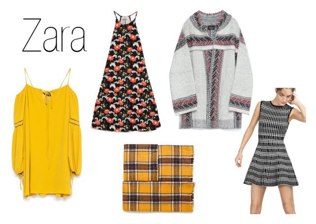 Zara Bardot Dress by shannagh-harte on Polyvore featuring Zara