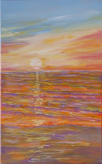 Sunrise - Acrylic - 50 x 80 cm - Artist: Lars Stounberg, Denmark