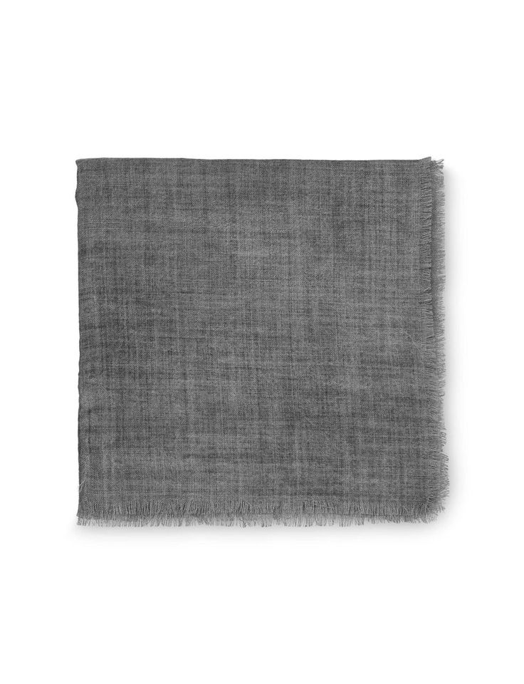 ADRINA SCARF-Women's square scarf in pure wool. Features short fringing at ends in main fabric. Size: 110 cm x 110 cm. Made in Italy