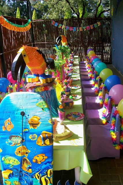 """""""Tropical Party"""" by Treasures and Tiaras Kids Parties, via Flickr"""