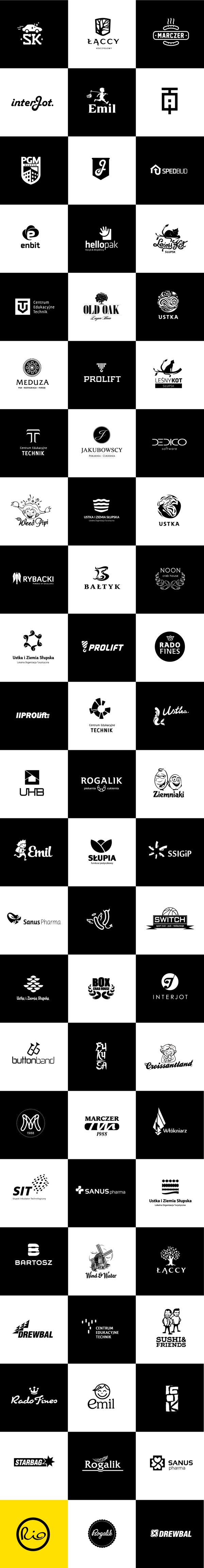 Logos B&W by Rio Creativo, via Behance