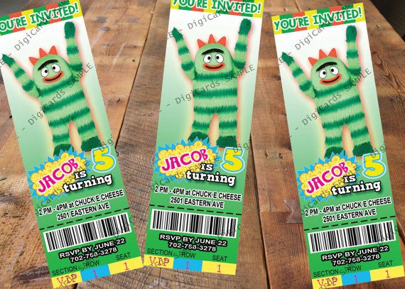 55 best yo gabba gabba party images on pinterest | yo gabba gabba, Birthday invitations