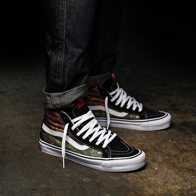vans original classic sk8 hi on feet