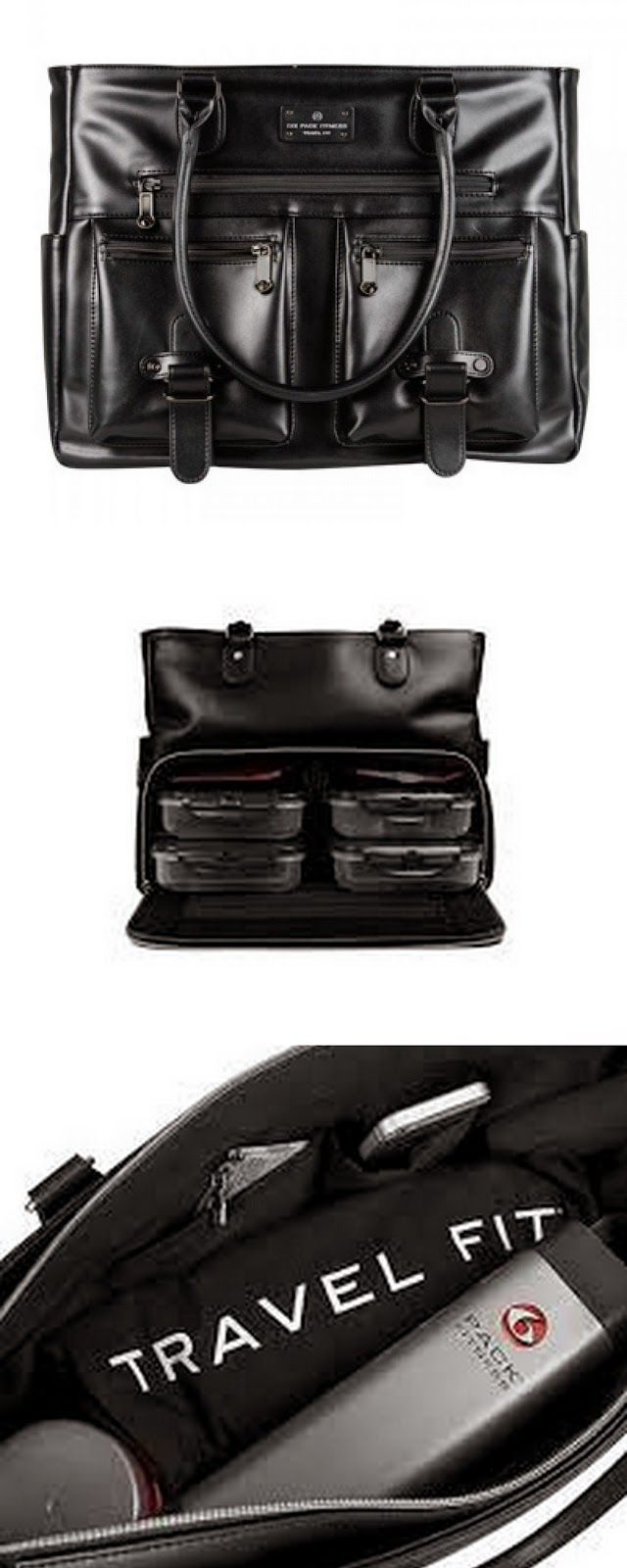 Meal prepping purse features a compartment to hide and store up to 4 meals. Comes with the containers and all!