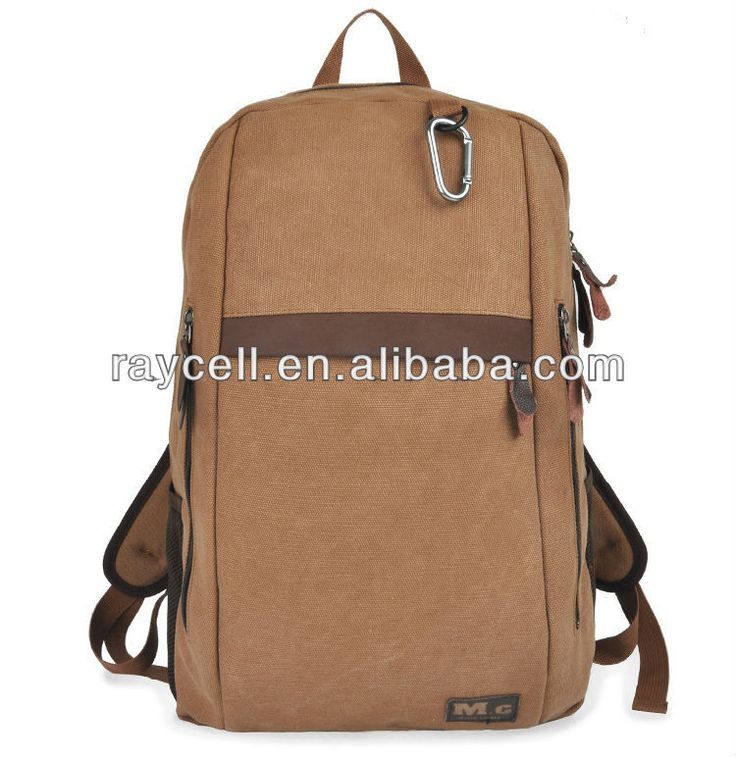 2013 wholesale canvas backpack, factory leather backpack
