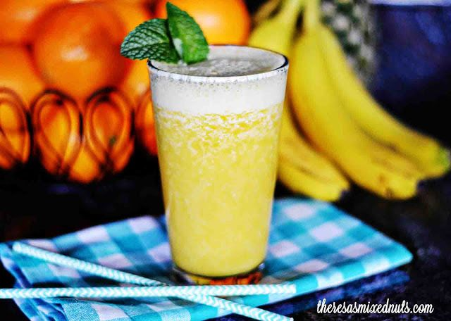 Banana, Orange and Pineapple Smoothie