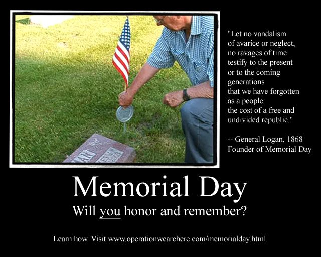 when does memorial day fall in 2013