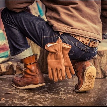 This Old Stomping Ground Denim Boots Red Wing Boots