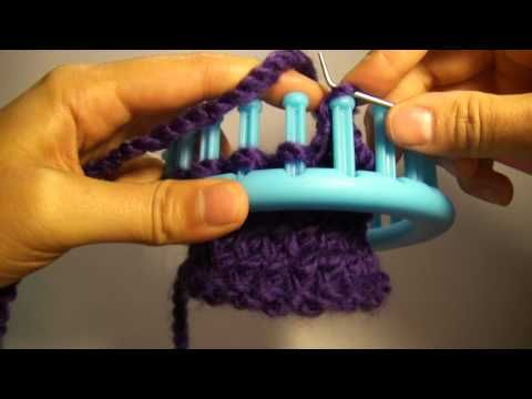 """Knitting Loom (Strickring) - """"Abstricken"""" - flexibler Abschluss (auch für Serenity Loom) - YouTube"""