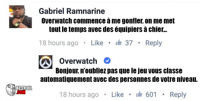 Overwatch commence à me soûler... - Be-troll - vidéos humour, actualité insolite