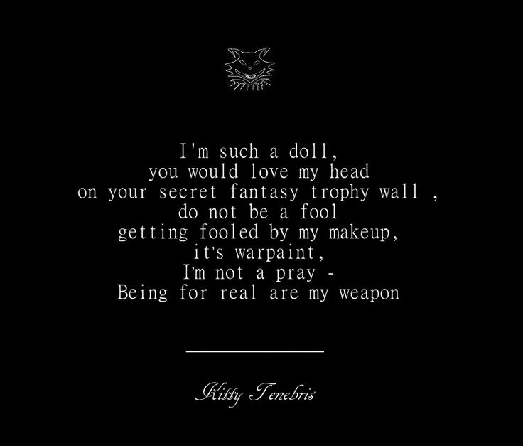 It's Warpaint - Kitty Tenebris  warpaint trophy makeup doll poetry poem poets of instagram kitty tenebris instaquote quotes