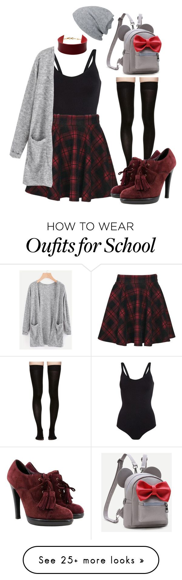"""""""School"""" by clevver on Polyvore featuring Marieyat, Amrita Singh and Yves Saint Laurent"""