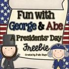 Fun With George & Abe {A Presidents' Day Freebie}