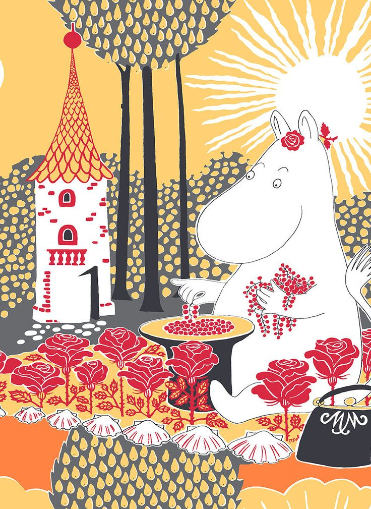 Rose Moomin Cotton Fabric Rose Moomin Cotton FabricThe Rose Moomin (Finnish: Ruusumuumi) illustration is known from the picture book 'The Book about Moomin