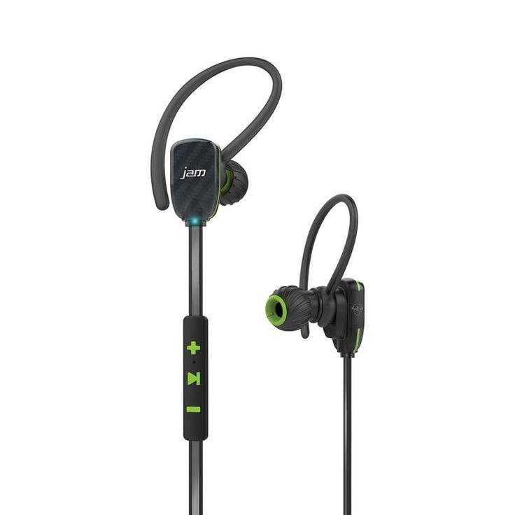 Hmdx JAM Transit Wireless Bluetooth Micro Sport Earbuds, Green