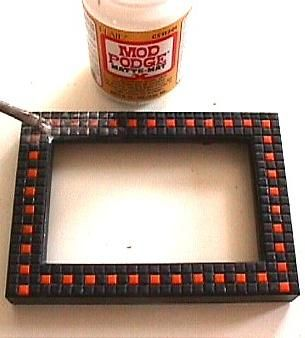 pcPolyzine - Halloween Picture Frame Sealant -               Polymer Clay Polyzine