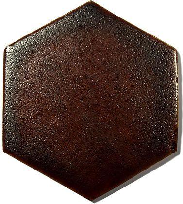 Brown Ceramic Handmade Wall & Floor Tile - Hexagon, glaze - Caramel Brown by DeKa Ceramic Tiles