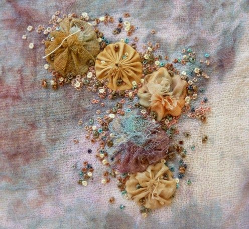 suffolk puffs and french knots...... Inspiration, texture, techniques, layers
