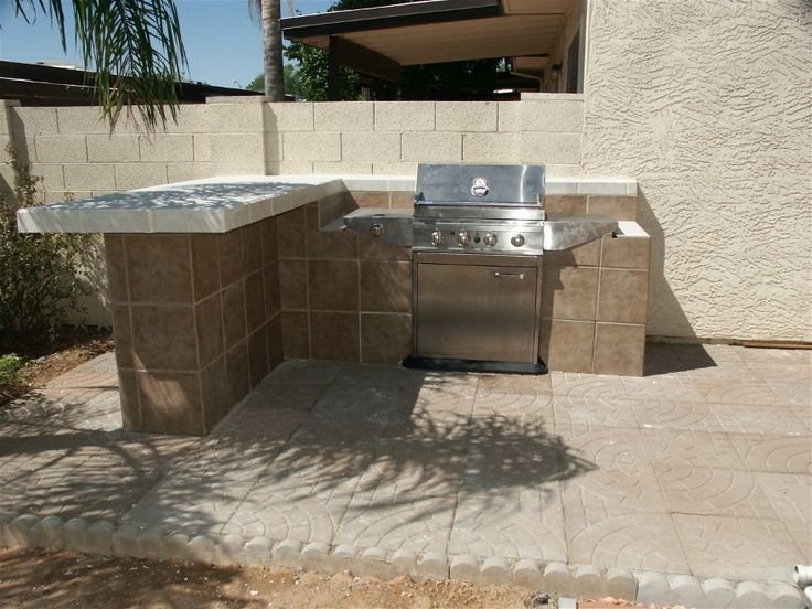 17 Best images about Outdoor BBG Designs on Pinterest ... on Backyard Patio Grill Island id=75252