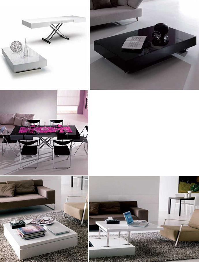 Multi Functional Furniture Transform Your Coffee Table Into A Desk Or A Dining Table Http Www