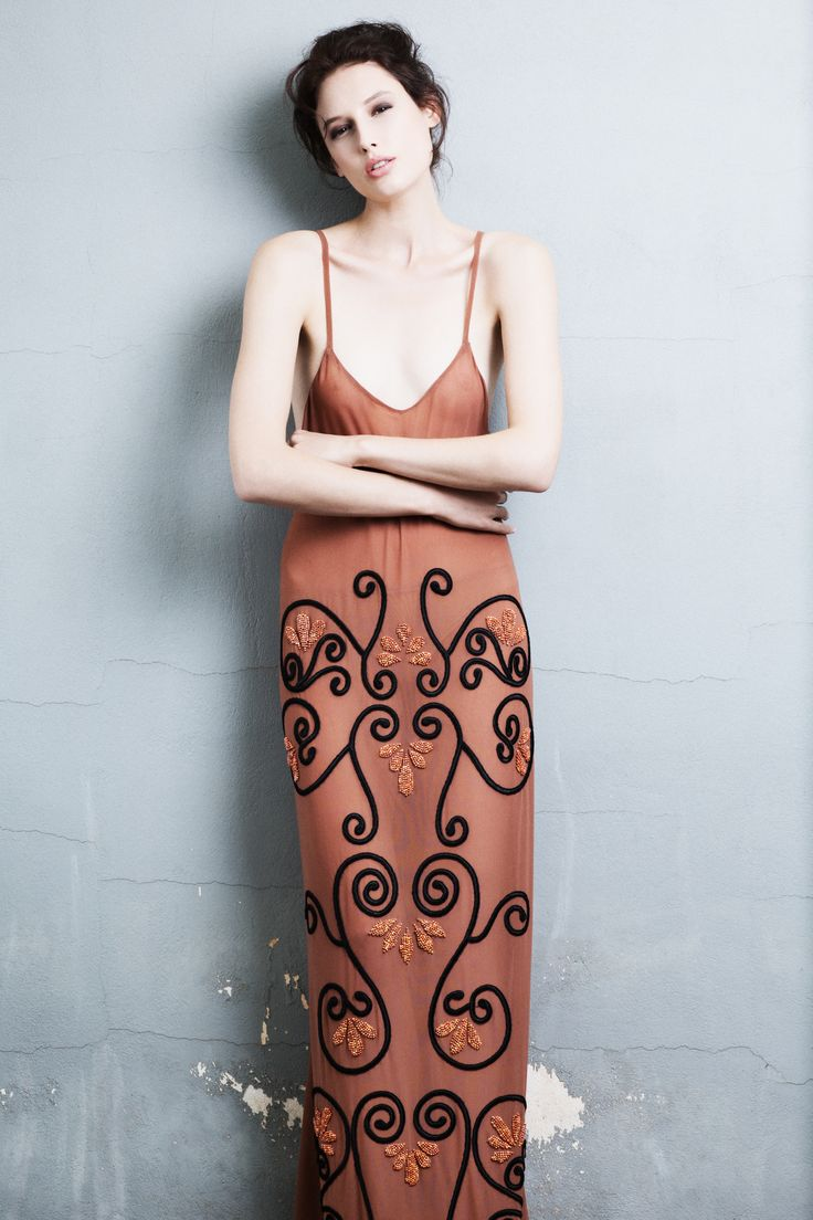 Ifigenia Fokas SS15 Hand embroidered gown Photo credit Ilias Agiostratitis