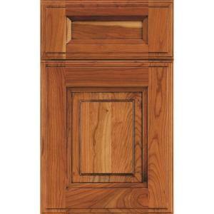 covington cabinet door sample in cherry tumbleweed burnt sienna glaze