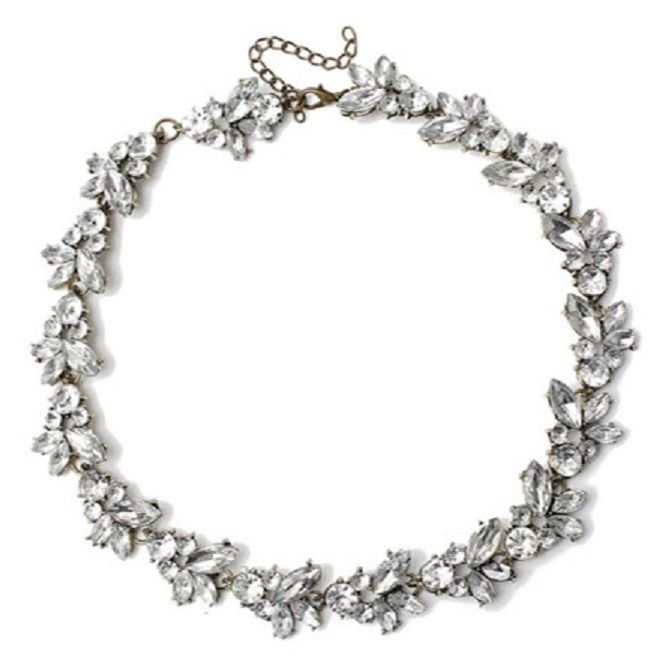 Vintage Inspired Crystal Rhinestone Choker Necklace  #VintageStatement