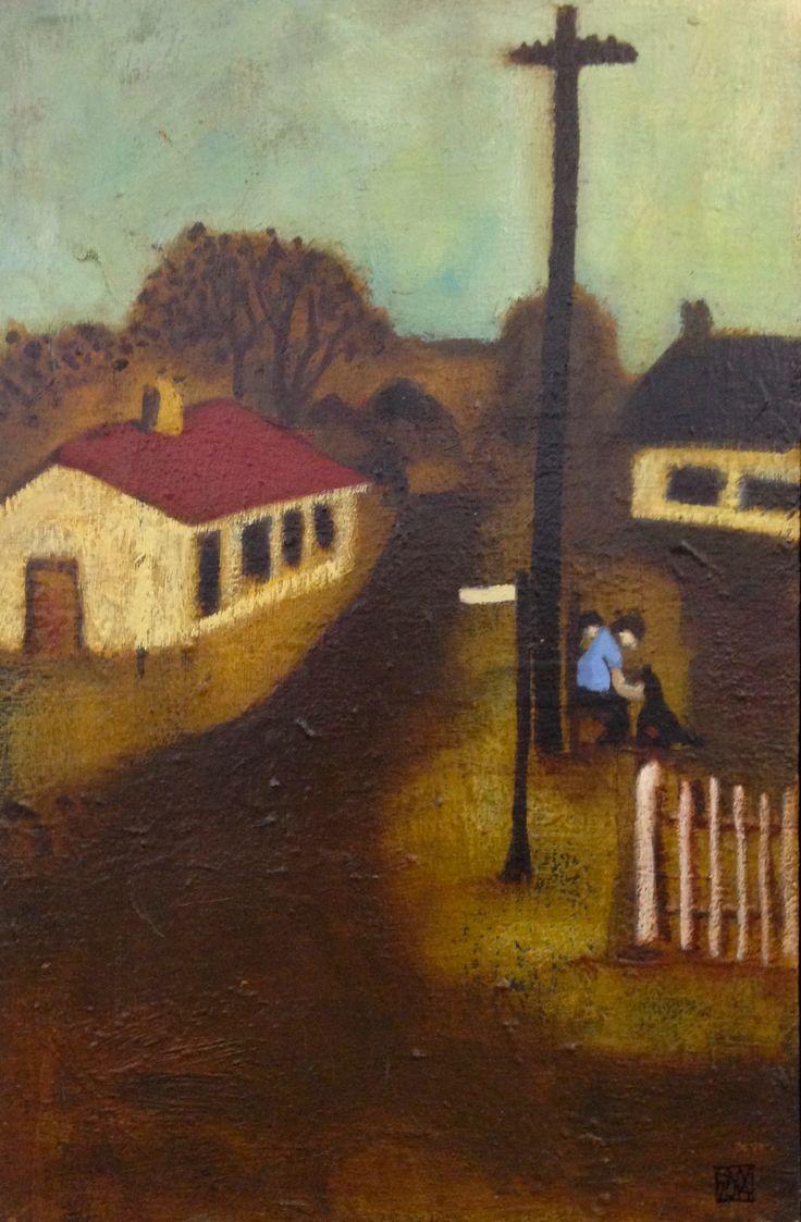 Sofala street scene - oil on linen  - (49 x 32 cm) sold