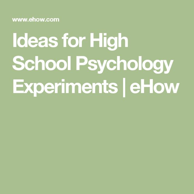 social psychology experiments for high school students