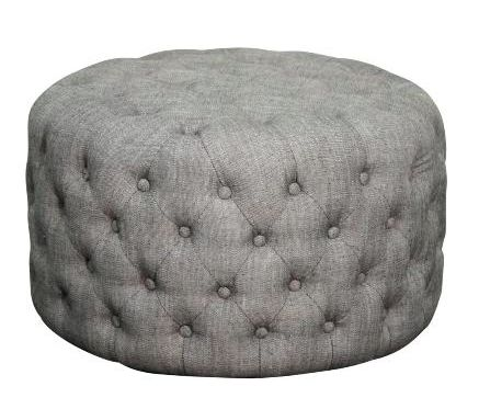 Ottomans are perfect for adding comfort and flexible seating to a room. This one blends modern simplicity, with its rounded shape and hidden legs, and tradition