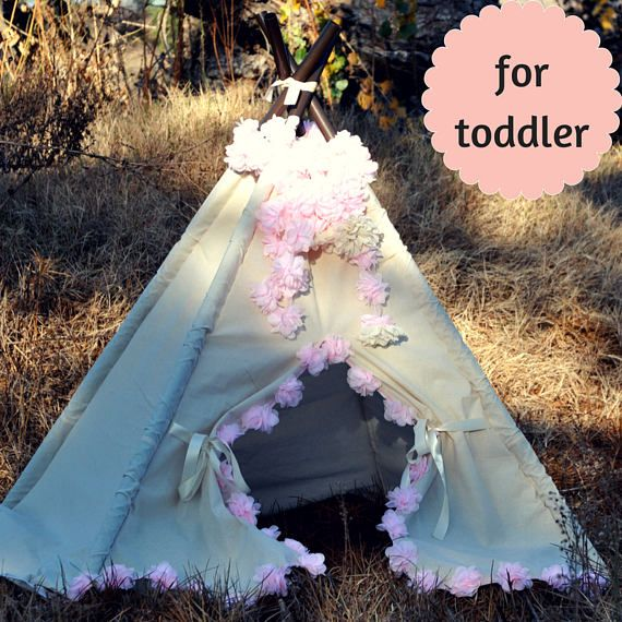 Toddler Teepee with Flowers perfect Valentines Gift for Kids