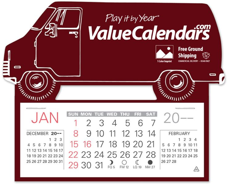 Calendar Ideas For Business : Delivery truck van easy stick™ calendar quot