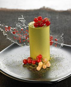 Green Tea & White Chocolate Jelly by Chef Adrian Geralnik #recipe