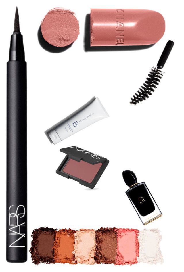 """""""Untitled #31"""" by fashiondaring on Polyvore featuring beauty, NARS Cosmetics, Chanel, NYX, LORAC and Giorgio Armani"""