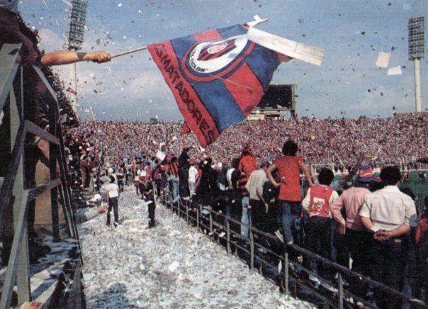 San Lorenzo de ALmagro en el estadio de Velez Sarsfield 1982