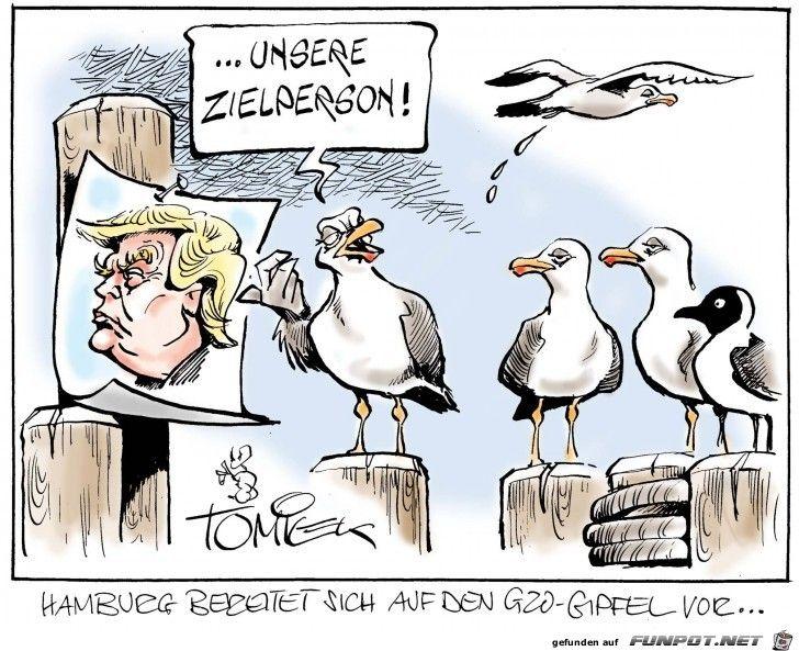 lustiges Bild 'G20-Gipfel Hamburger Moeven bereiten sich vor.jpg'- Eine von 5100 Dateien in der Kategorie 'Cartoons / Comics' auf FUNPOT. Kommentar: G20-Gipfel ist am 7. bis 8. Juli 2017 in Hamburg.