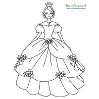 Coloriage princesse