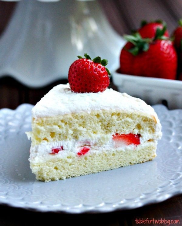 This strawberry sponge cake is light and airy and perfect for summer.
