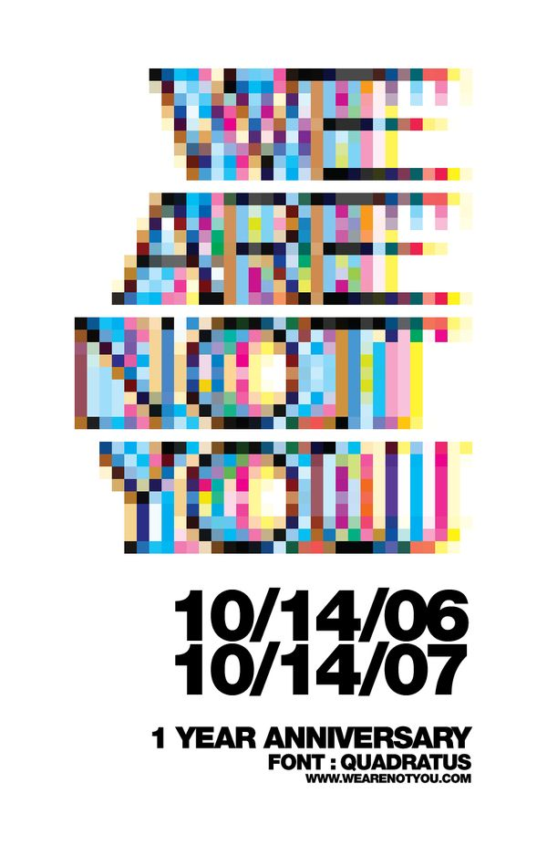 wearenotyou poster