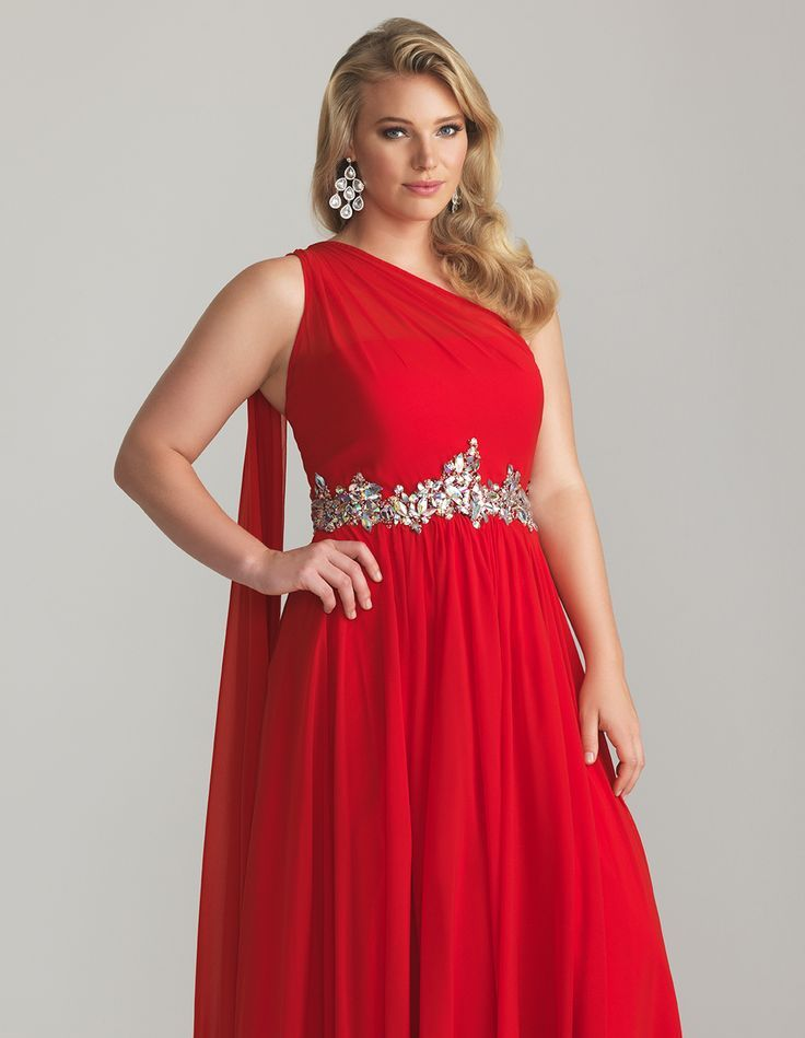 Plus size red after 5 dresses