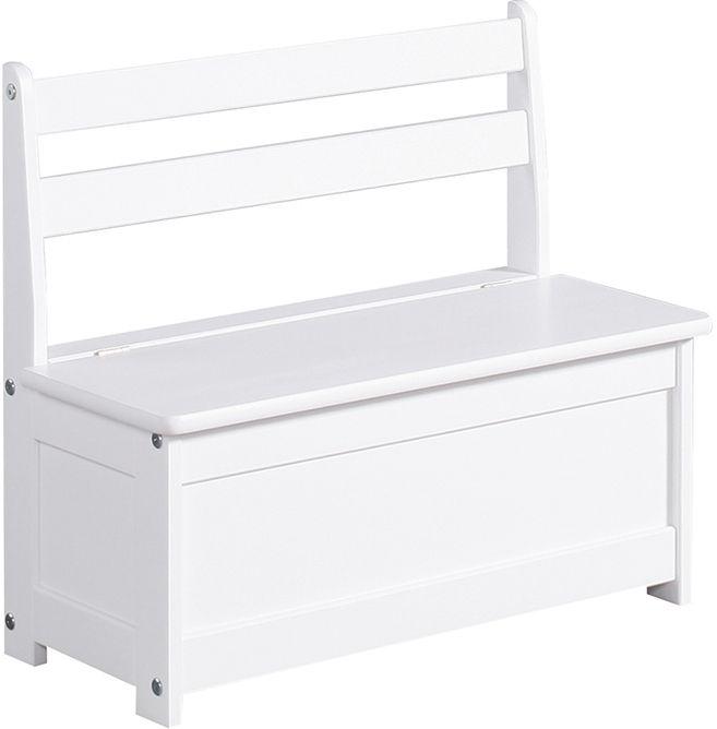 Ящик-скамейка Pinio Скамья с ящиком для игрушек белая (1002034) | Hotline.ua